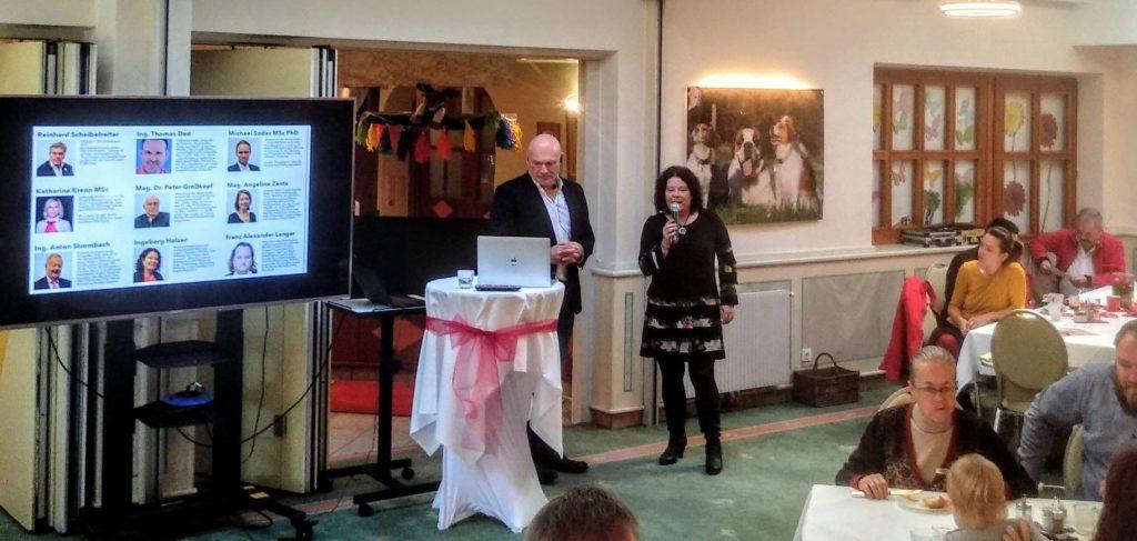pro-pressbaum Wahl Frühstück Ingeborg Holzer im Hotel Wiental